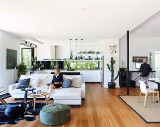 open plan living layout