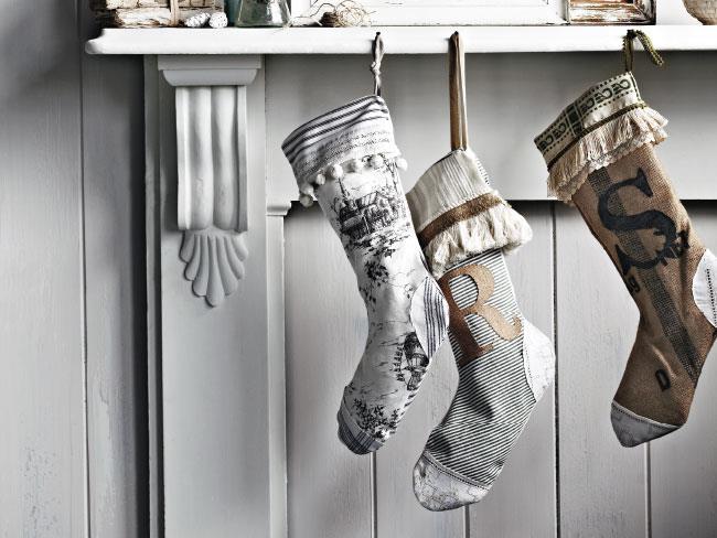 Gray Christmas Stockings.How To Sew A Christmas Stocking Homelife