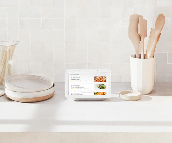 "**Google Home Hub** The new Google Home Hub is a compact smart speaker with a screen that adds visual elements to your searches and allows you to control the rest of your smart home. [Google](https://store.google.com/|target=""_blank""