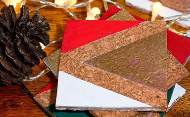 How to make DIY Christmas coasters