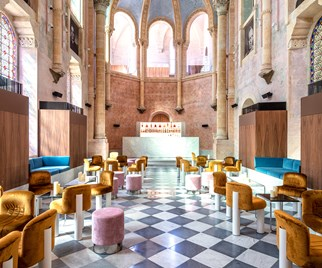 A bar in The Jaffa, a luxury hotel in a converted former hospital