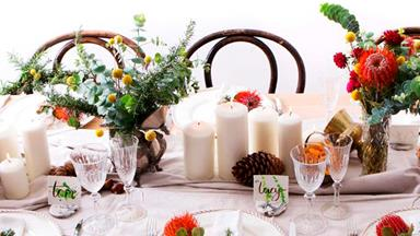 Christmas table settings in 6 easy steps