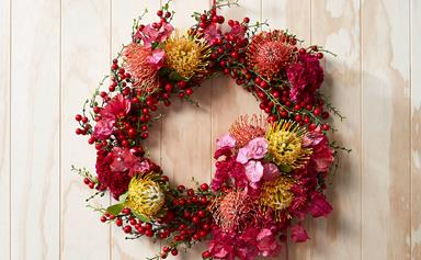 How to make an Australian native Christmas wreath