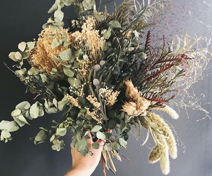 dried floral arrangement