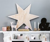 DIY Wooden Christmas star in 6 steps