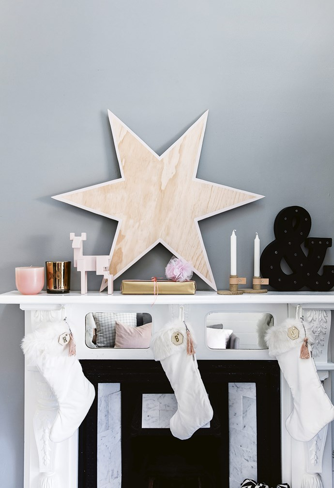 **DIY Wooden Christmas Star** The minimalist aesthetic makes it the perfect decorative touch all year round. *Styling: Vanessa Colyer Tay | Photography: Maree Homer.*