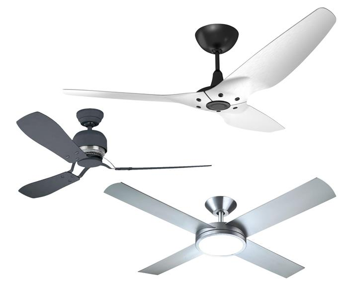 "**Get the look** (top down) Big Ass 'Haiku Luxe Series' fan, from $2495, [Big Ass Fans.](https://www.bigassfans.com/au/|target=""_blank""