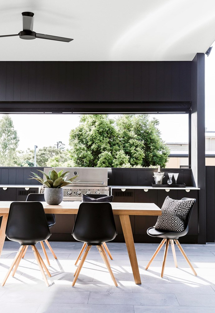 **Back to black** The modern look of this black fan sits perfectly in this neutral space. *Photography: Maree Homer/bauersyndication.com.au.*