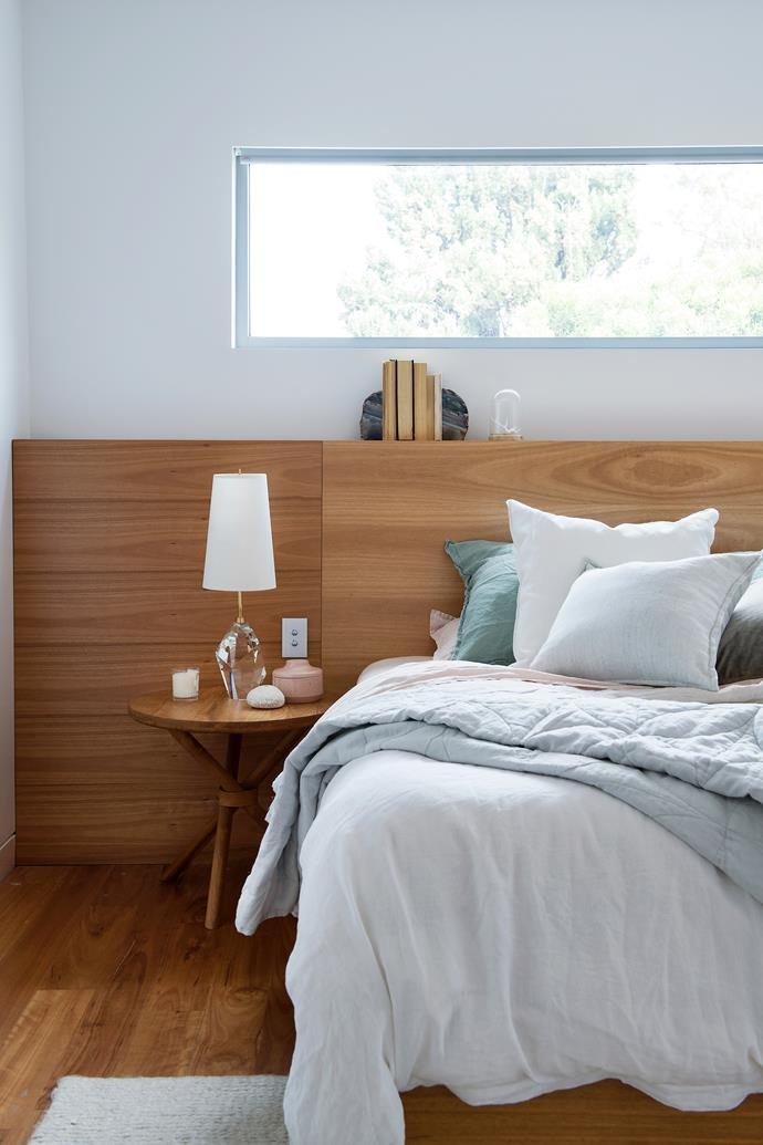 A horizontal window maximises natural light in the south-facing main bedroom.