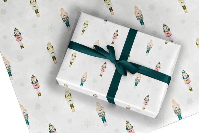 "Nutcracker **gift wrap**, $2.34 (for a single 700 x 500mm sheet), from [Etsy](https://fave.co/2qFaDw3|target=""_blank""