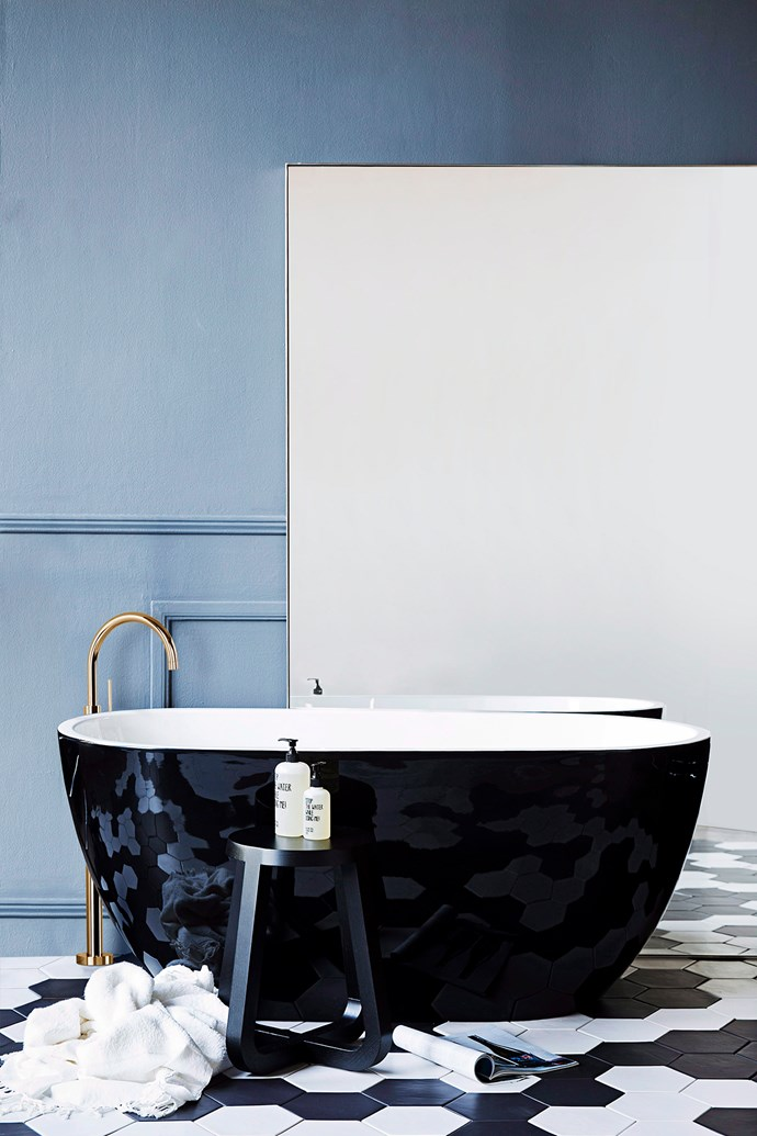 Gone are the days of simply buying a white bath. The latest models allow you to make a statement with colour, material and finishes. *Photo: Chris Warnes / bauersyndication.com.au*