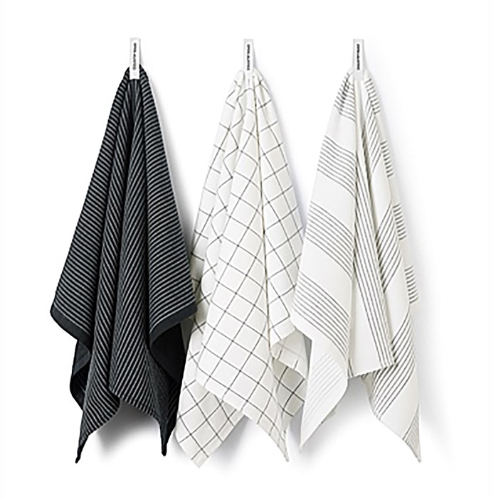 "Alin tea towels, $34.95 for pack of 3, from [Country Road](https://fave.co/2PT0vhf|target=""_blank""
