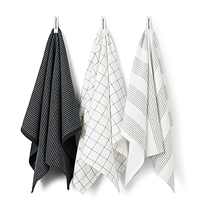 """Alin tea towels, $34.95 for pack of 3, from [Country Road](https://fave.co/2PT0vhf