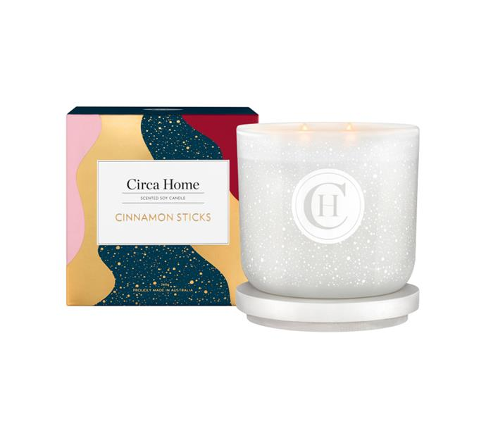 "Cinnamon Sticks classic candle, $32.95, [Circa Home](https://www.circahome.com.au/soy-candles/260g/cinnamon-sticks|target=""_blank""