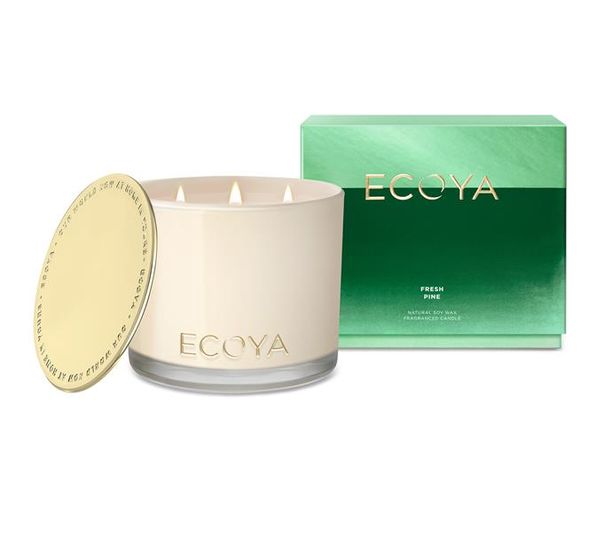 "ECOYA Grand Madison candle in Fresh Pine, $99.95, [Ecoya](https://www.ecoya.com.au/collections/christmas/products/fresh-pine-grand-madison |target=""_blank""