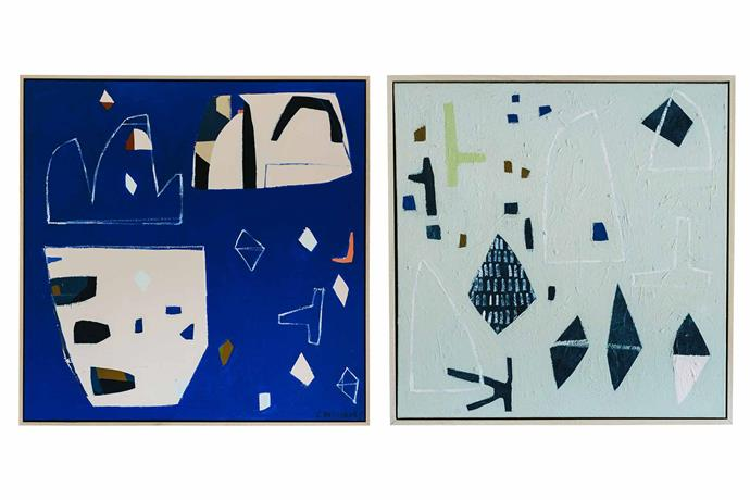 Artworks: *From Here to Here* (left) and *Cool Change* (right) by Cary Williams.