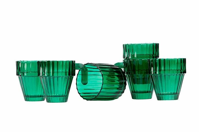 "DOIY 'Saguaro' cactus glasses, $99.90/set of 6, [Top3 By Design](http://top3.com.au/|target=""_blank""|rel=""nofollow"")."
