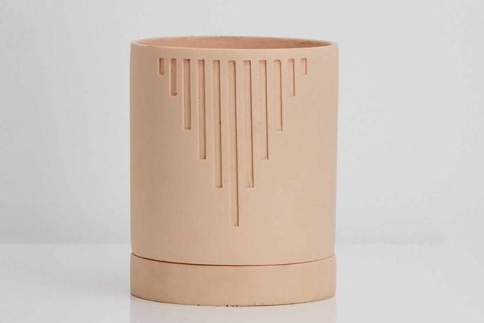 "'Etch' pot, $69, [Capra Designs](https://capradesigns.com/|target=""_blank""|rel=""nofollow"")."
