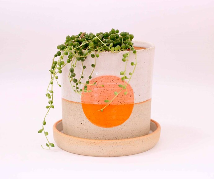 "'Full Moon' planter, $98 (excludes plant), [Takeawei](https://takeawei.com/|target=""_blank""|rel=""nofollow"")."