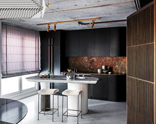 luxe apartment kitchen