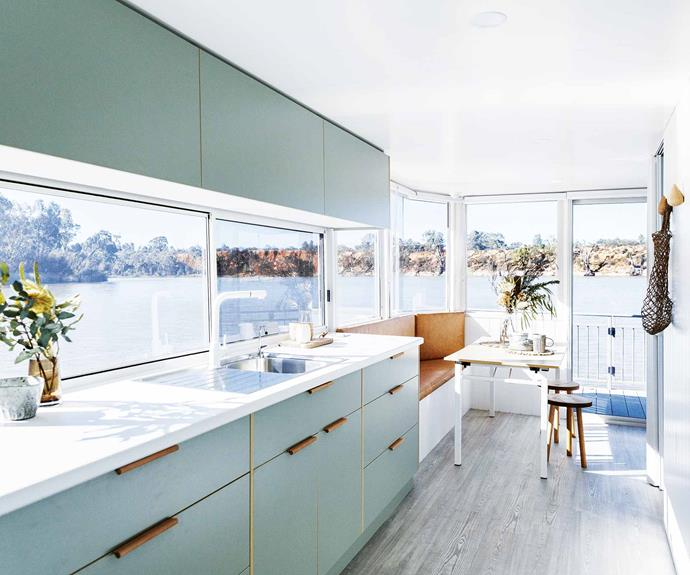 "**Colour palette** ""We could have done it completely differently and made it more sterile, like some other houseboats, but we wanted it to be a home,"" says Simone."
