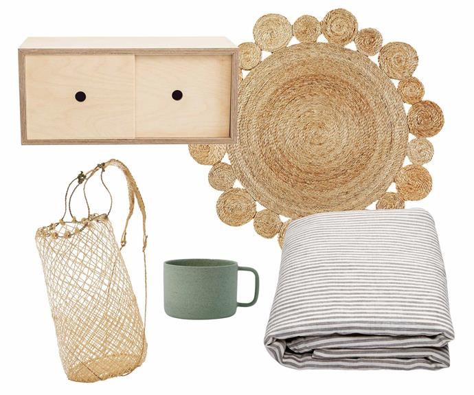 "***Neutral territory** Create a sense of space and light with classic pieces in natural timber, neutral linens and a hint of muted colour. **Get the look** (clockwise left to right) 'Little Nest' storage cabinet, $225, [Plyroom](https://www.plyroom.com.au/|target=""_blank""