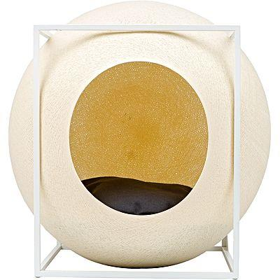 """The Cube Pet Bed in Champagne, $294.95, [Zanui](https://fave.co/2zOIKWz