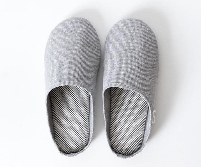 "Morihata 'Sasawashi Room' slippers, $140, [My Chameleon](https://www.mychameleon.com.au/|target=""_blank""|rel=""nofollow"")."