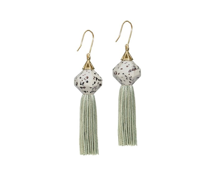 "Studio Elke 'Mythical Tassel' earrings, $115, [Studio Elke](https://studio-elke.com/|target=""_blank""