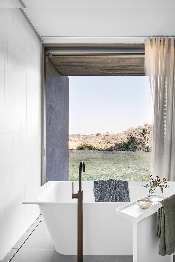 "**Curtains** - When *The Block's* Jess and Norm unveiled their [main bathroom](https://www.homestolove.com.au/the-block-2018-room-reveal-bathroom-shannon-vos-7142|target=""_blank"") early on in the season, judge Shaynna Blaze was not impressed with their 'impractical' sheer curtain. Shaynna may be right, but it looks like form has overtaken function this year with many beautiful bathrooms – including this one in a [coastal holiday home near Melbourne](https://www.homestolove.com.au/a-white-contemporary-coastal-bathroom-19035
