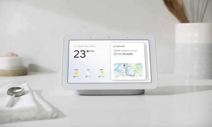 "[Google Home Hub](https://store.google.com/au/product/google_home_hub?utm_source=en_au-offnet&utm_medium=Content_Partnership-hyb&utm_content=Gift_Guides_NoPromo&utm_campaign=google_Home_AU&dclid=CjkKEQiAz7TfBRCpyIfJg-DDjucBEiQAy_1C-wVdM2yIsheGK-DY0whfjISWYkJPaEZ2NpvcBj9VuWjw_wcB|target=""_blank""