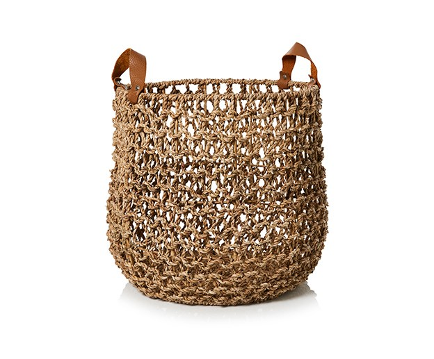 [Adairs Malta Basket](https://www.adairs.com.au/homewares/home-decor/home-republic/malta-basket/) Malta Basket, $89.99 <br><br> With beautiful leather handles and a sturdy metal frame, this basket makes for a chic living-room planter or bathroom wash basket. Either way, it's a clever storage solution that'll add warm and style to your home.