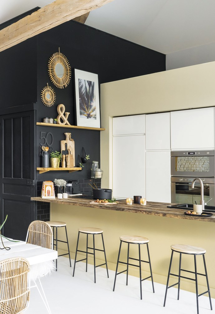 "**Kitchen** The kitchen worktops, made from former railway sleepers, bring a rustic touch to the contemporary [Ixina](http://www.ixina.com/|target=""_blank""