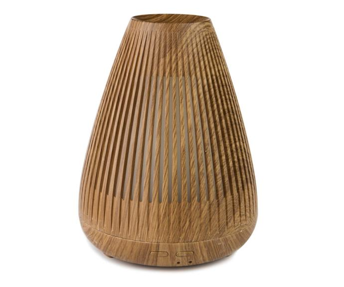 """Aroma-Flare ultrasonic diffuser, $69.95, [Lively Living](http://livelyliving.com.au/ target=""""_blank"""" rel=""""nofollow"""")."""