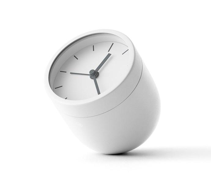 "Menu 'Norm' alarm clock, $179.90, [Top3 By Design](http://top3.com.au/|target=""_Blank""|rel=""nofollow"")."