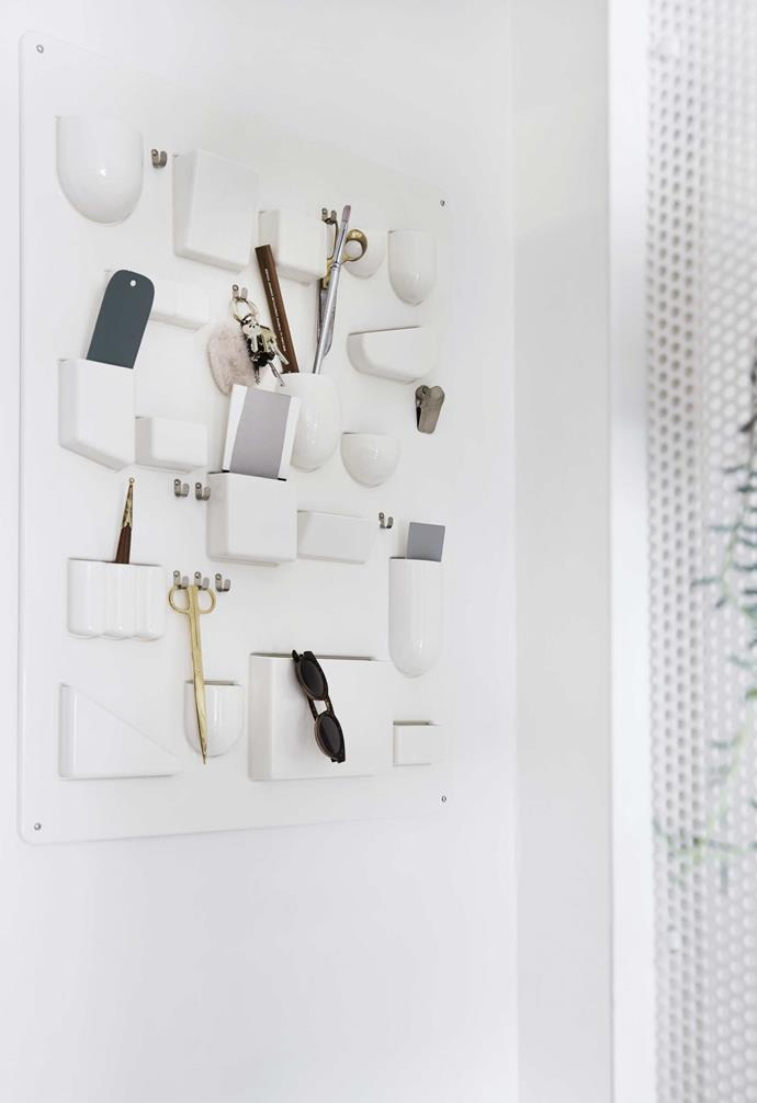 "**Bits and pieces** Small storage hangs on the wall in the form of an Uten.Silo organiser by [Vitra](https://www.vitra.com/en-au/home|target=""_blank""