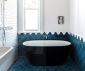 Making waves in a coastal inspired bathroom