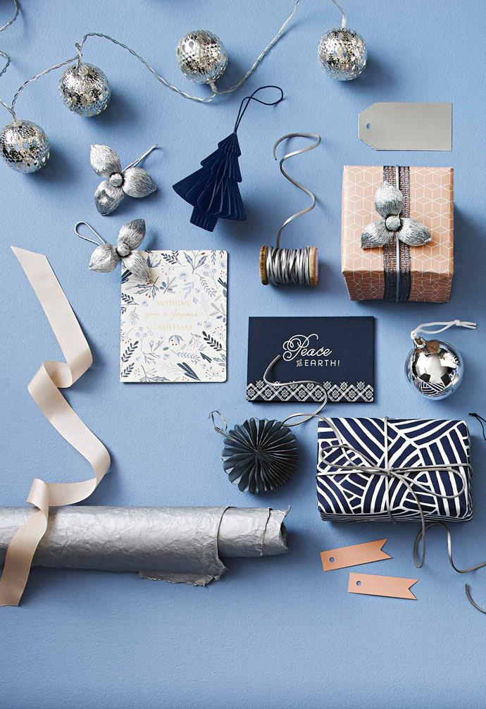 "**Wrap it up** Give your Christmas gifts an extra layer of personalisation with these creative [gift wrapping ideas](https://www.homestolove.com.au/christmas-gift-wrapping-ideas-13162|target=""_blank""). *Styling by Natalie Johnson and Photography by Nigel Lough.*"