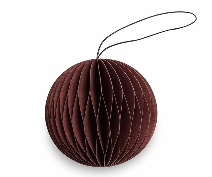 "Nordstjerne 'Chocolate Paper Scoop' ornament, $17, [Nordic Rooms](https://www.nordicrooms.com.au/|target=""_blank""