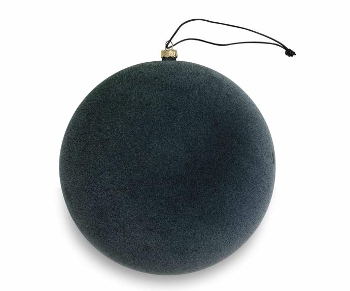 "Nordstjerne 'Pine Green Velvety Sphere' ornament, $27, [Nordic Rooms](https://www.nordicrooms.com.au/|target=""_blank""