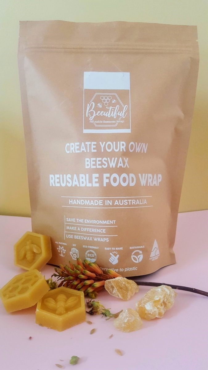 """Make your own **beeswax wraps kit**, from $11.95, at [Beeutiful](https://beeutiful.com.au/product/beeswax-wraps-diy-kit/