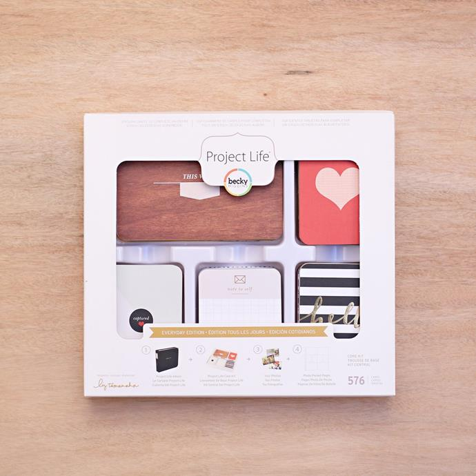 """Project Life 'Gather' Core **scrapbooking kit**, $29.99, from [Spotlight](https://fave.co/2PGjHjh 