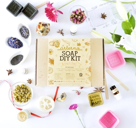 """Aterno DIY organic **soap making kit**, $52, from [Etsy](https://fave.co/2Qdp2O8