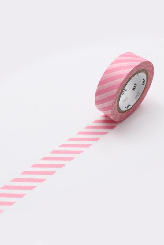 "Masking **washi tape** MT in stripe Sakura, $4.95, from [Milligram](https://milligram.com/masking-tape-mt-single-rolls-stripe-sakura|target=""_blank""