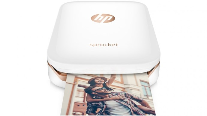 """HP Sprocket **portable photo printer** in white, $159, from [The Good Guys](https://fave.co/2DvHkni