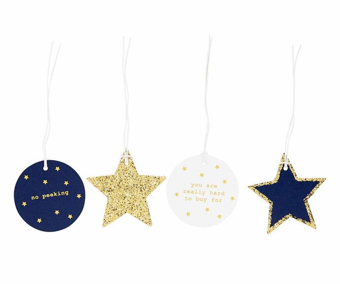 "'You Are Really Hard to Buy for' gift tag, $12.95/set of 12, [Kikki.K](https://www.kikki-k.com/au/home|target=""_Blank""