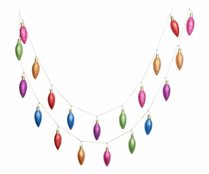 """'Merry and Bright' garland, $24.99, [Myer](https://www.myer.com.au/