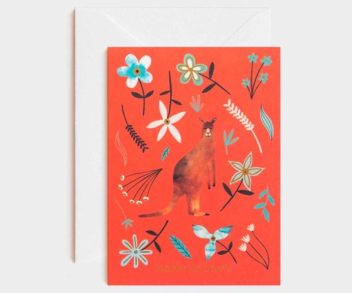 "Milligram Studio x Marc Martin 'Hoppy Holidays' card, $5.95, [Milligram](https://milligram.com/|target=""_Blank""|rel=""nofollow"")."