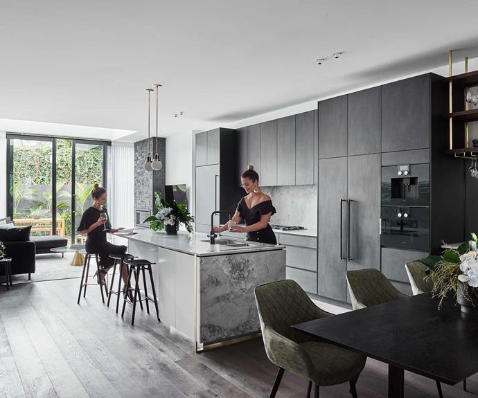 "**The brief** ""We wanted to pay homage to the era of the home, but at the same time we wanted to design a contemporary home that had continuity throughout,"" Alisa and Lysandra explain. Moving further into the home the next stage was to tackle the generous [kitchen](https://www.homestolove.com.au/kitchens-with-clever-design-ideas-to-steal-6962