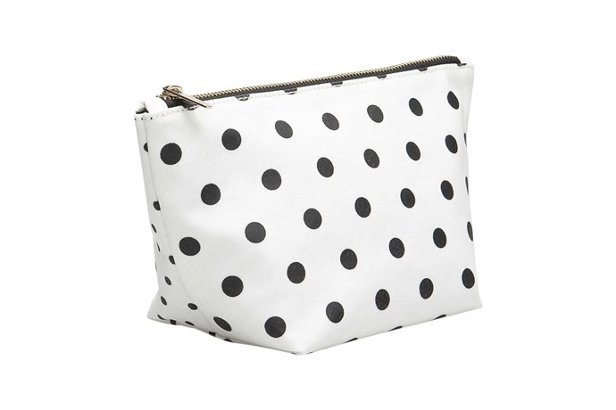 """Mini Spot Tri cosmetic case, $29.95, [Country Road](https://www.countryroad.com.au/